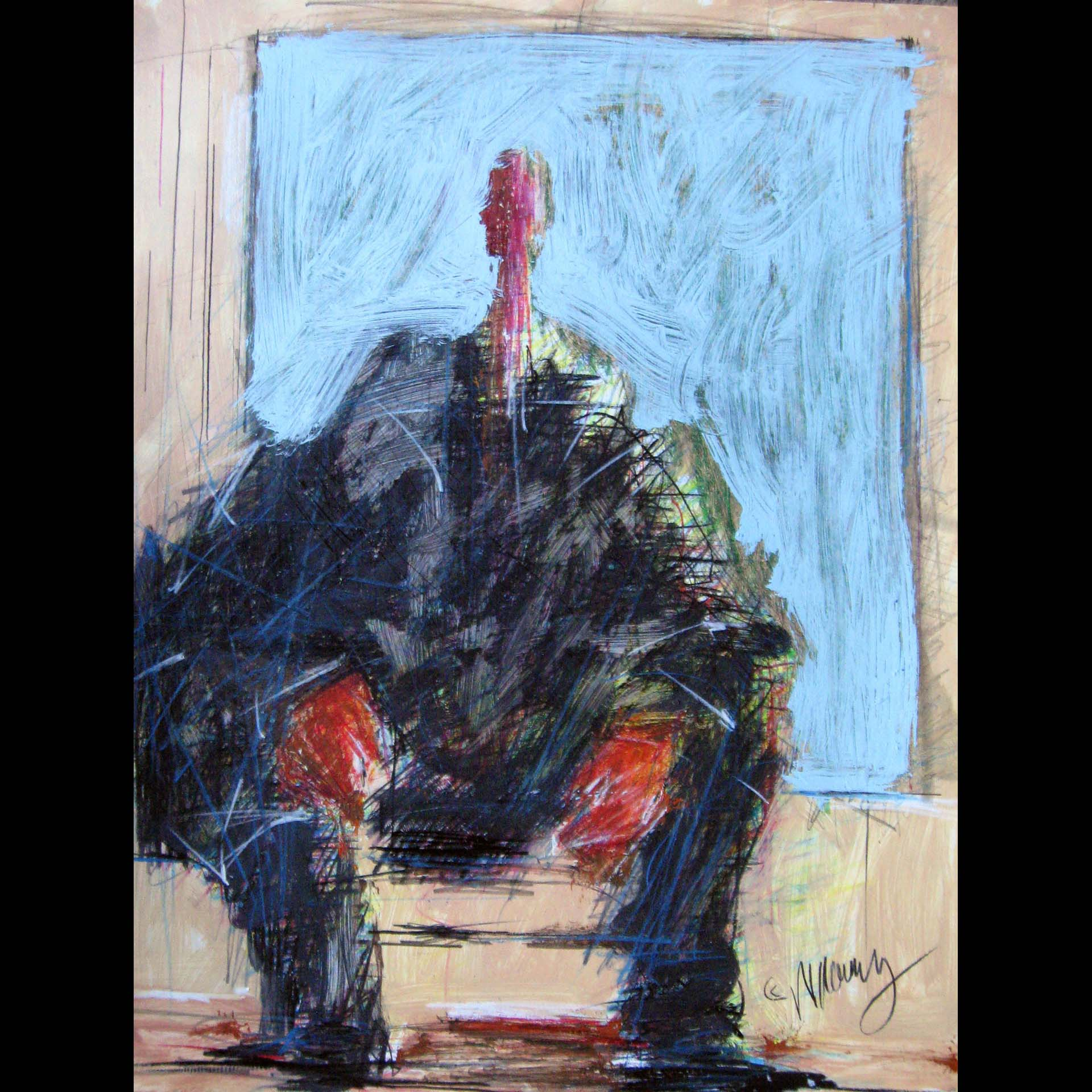 Figure Seated, copyright © Michael Kelly