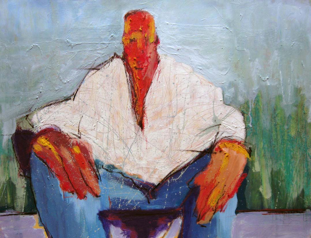 Seated Figure #3, copyright © Michael Kelly