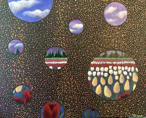 Social Distancing at the Tulip Farm, copyright © Nancy Norman