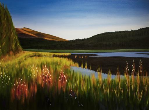 Lake In Idaho, copyright © Noriko Hirayama