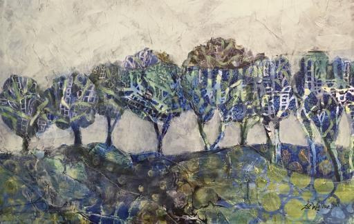 Blue Tree Tapestry, copyright © Liz Walker