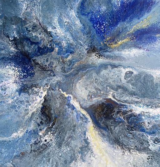 Blue Gray Fusion, copyright © Mary Thompson