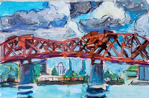Broadway Bridge, copyright © Brooks Hickerson