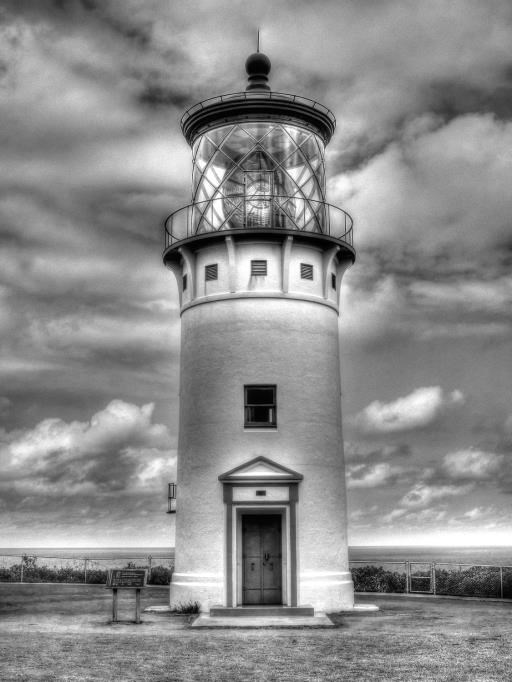 Lighthouse ready for a storm, copyright © Richard Newman