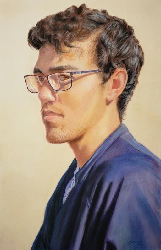 Chris in Contemplation, copyright © CJ Worlein
