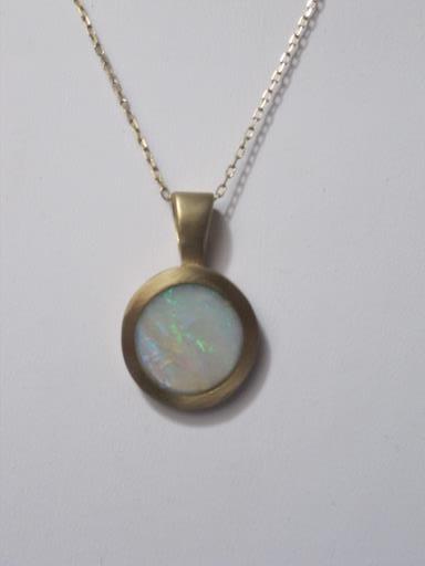 KSJ Opal & 14K Gold Circle Necklace, copyright © Kendra Roberts