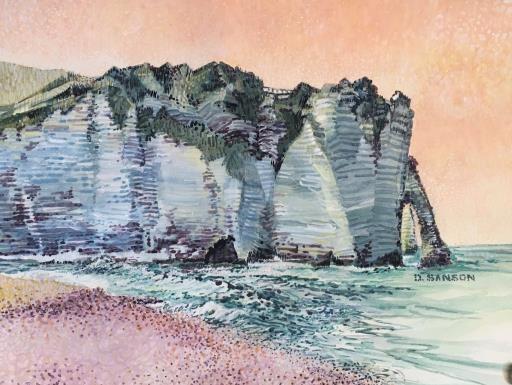 """""""Etratat Cliffs"""", copyright © Donna Sanson"""