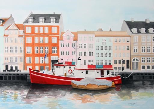 Red Boat, copyright © Dennis Mayers