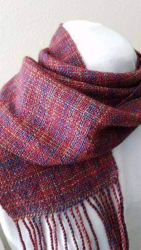 Plaidish scarf, copyright © Kathleen Silloway