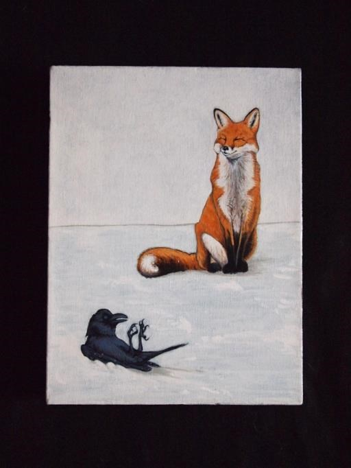 The Fox and The Crow, copyright © Juan M Aguirre
