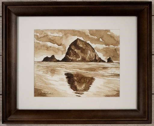 HayStack Rock In Walnut Ink, copyright © Ann Peplinski