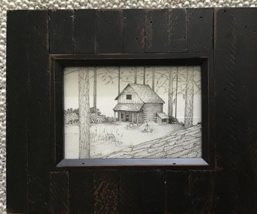 cabin in the woods, copyright © Julianne Cook