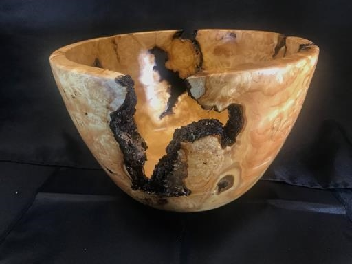 #2407 Black locust burl bowl , copyright © Bob Stensland