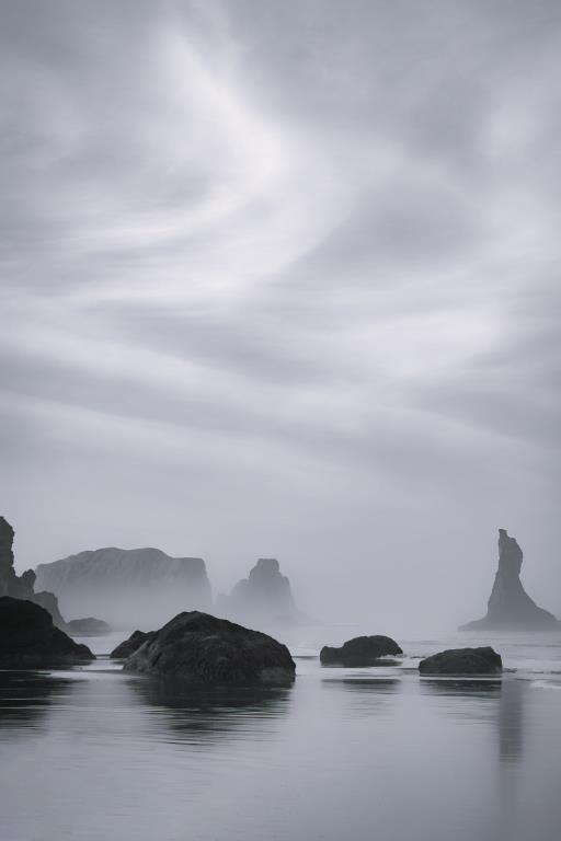 Swirling Sky Along the Coast, copyright © Don Schwartz