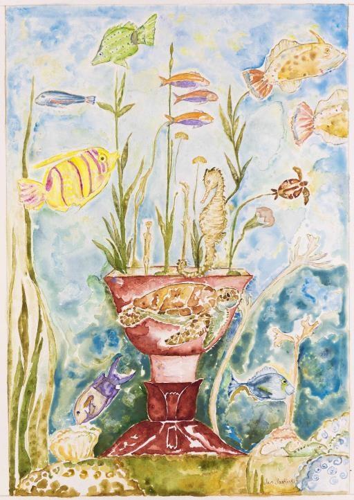 Animal Vase #3 Maui Memories, copyright © Jan Jaskoski