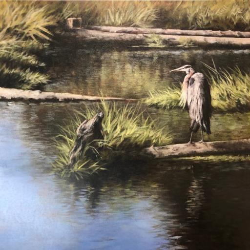 The Heron, Westmoreland Park, copyright © Lisa Raymer