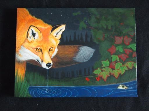 The Fox and The Frog, copyright © Juan M Aguirre