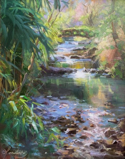Beside Quiet Waters, copyright © Elo K Wobig