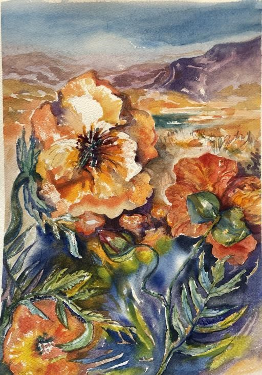 Windflowers, copyright © Laura Wilson